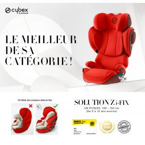 Cybex - 520003237 - Siège-auto SOLUTION Z I-FIX Autumn Gold - burnt red (419252)