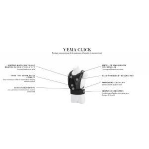Cybex - 520003033 - Porte-bébé physiologique YEMA CLICK Deep Black - black (419358)