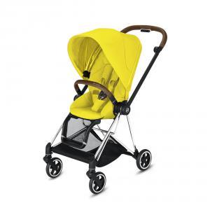 Cybex - BU276 - Poussette Mios face au monde ou face parents - Chrome marron, Mustard Yellow (424574)