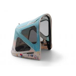 Bugaboo - 180322GN01 - Capote à fenêtres GRAY MALIN poussette naissance Bugaboo Donkey3 (426336)