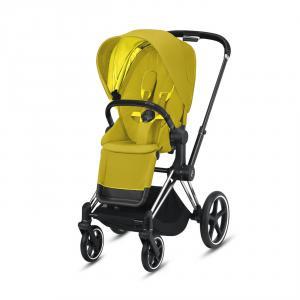 Cybex - BU317 - Priam poussette - Chrome noir, mustard yellow (426794)