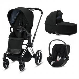 Cybex - BU323 - Poussette travel system - Priam, nacelle et siège auto - Chrome noir, noir (426806)