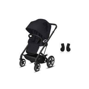 Cybex - BU487 - Poussette confortable Talos S et adaptateurs siège auto - Noir - Deep black - black (456206)