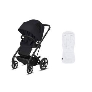 Cybex - BU489 - Poussette Talos S et doublure de siège confort respirant - Noir - Deep black - black (456210)